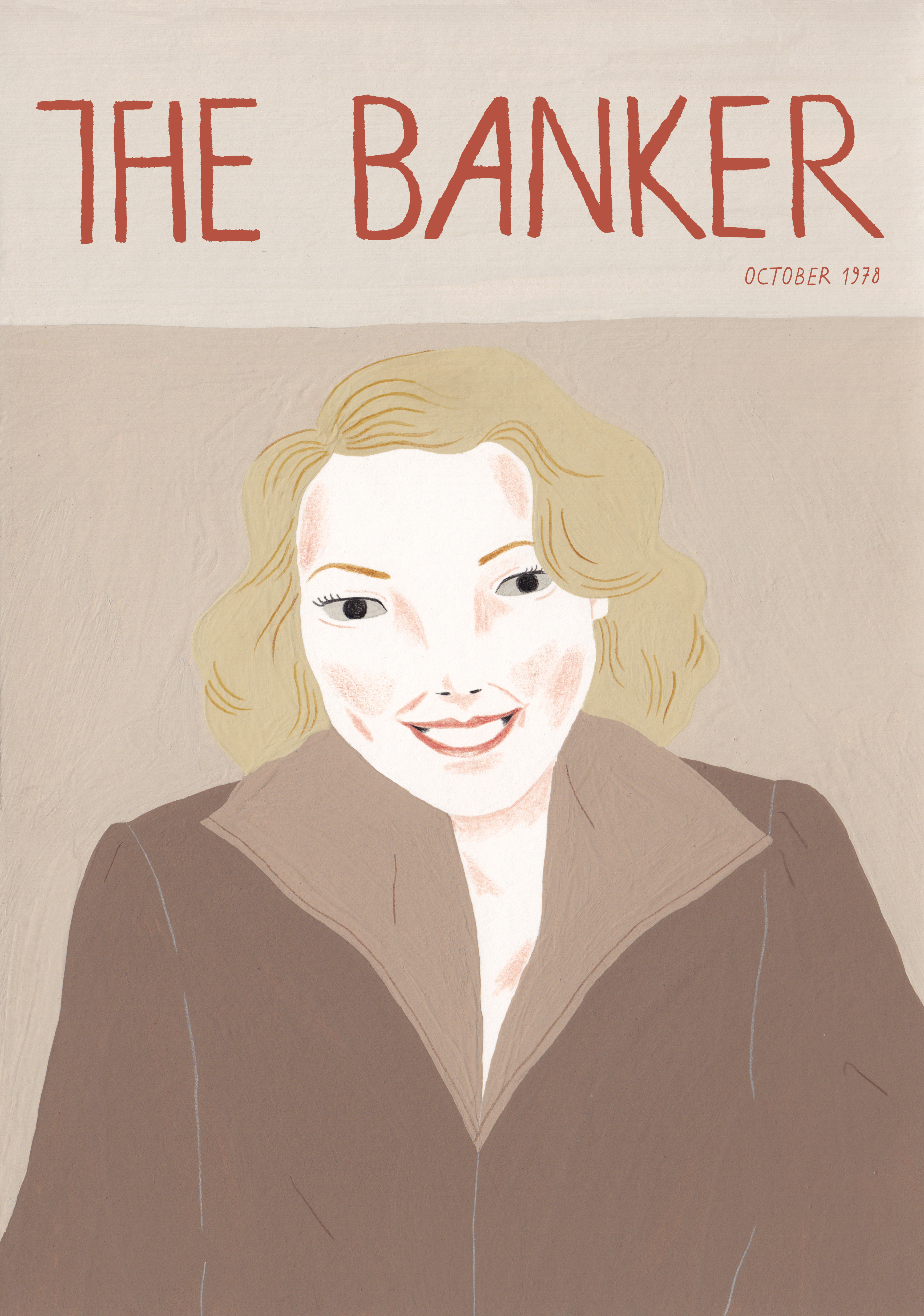 Illustration of Muriel Siebert the first woman to own a seat on the New York Stock Exchange