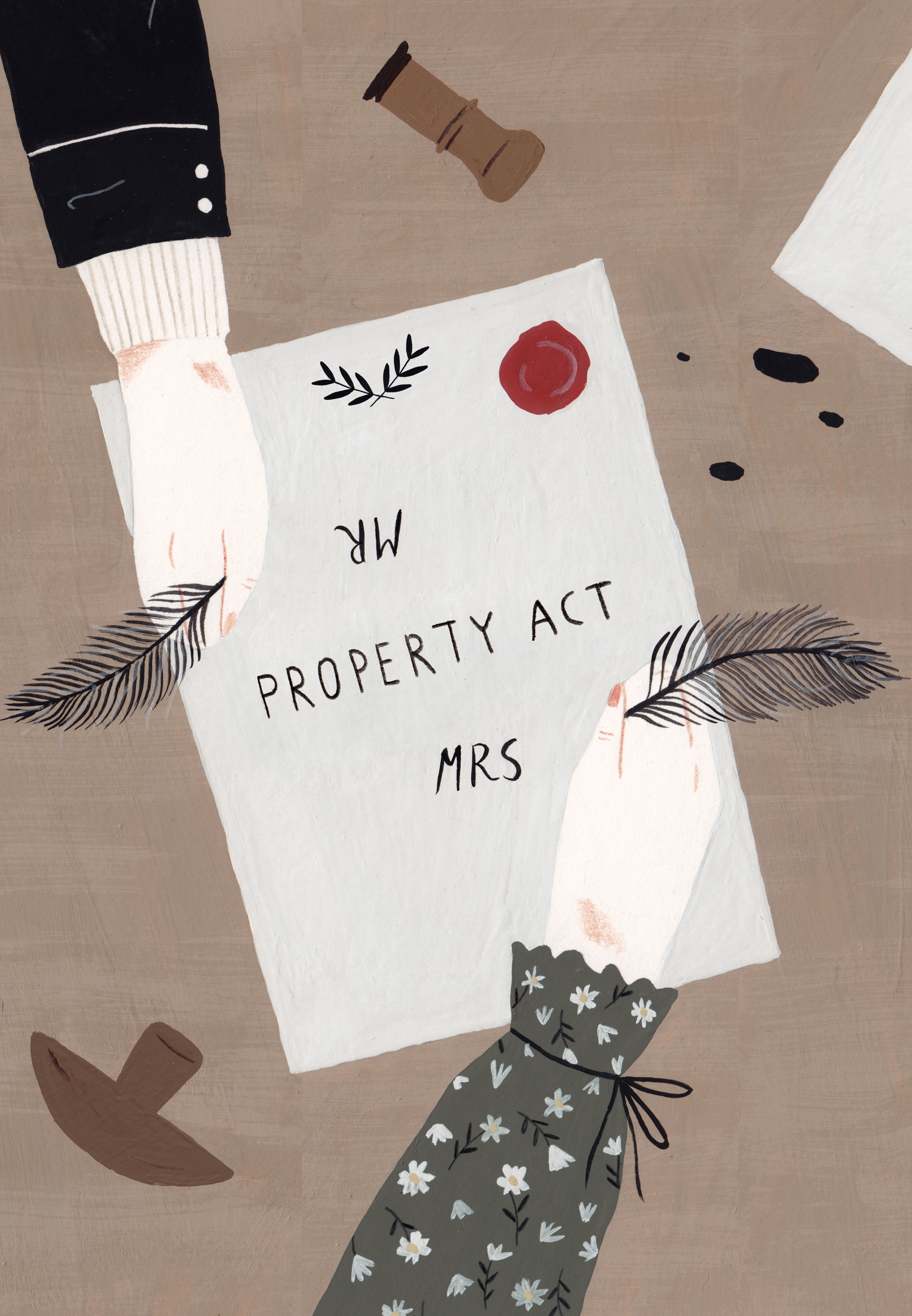 Illustration of Married Women's Property Act in Mississippi