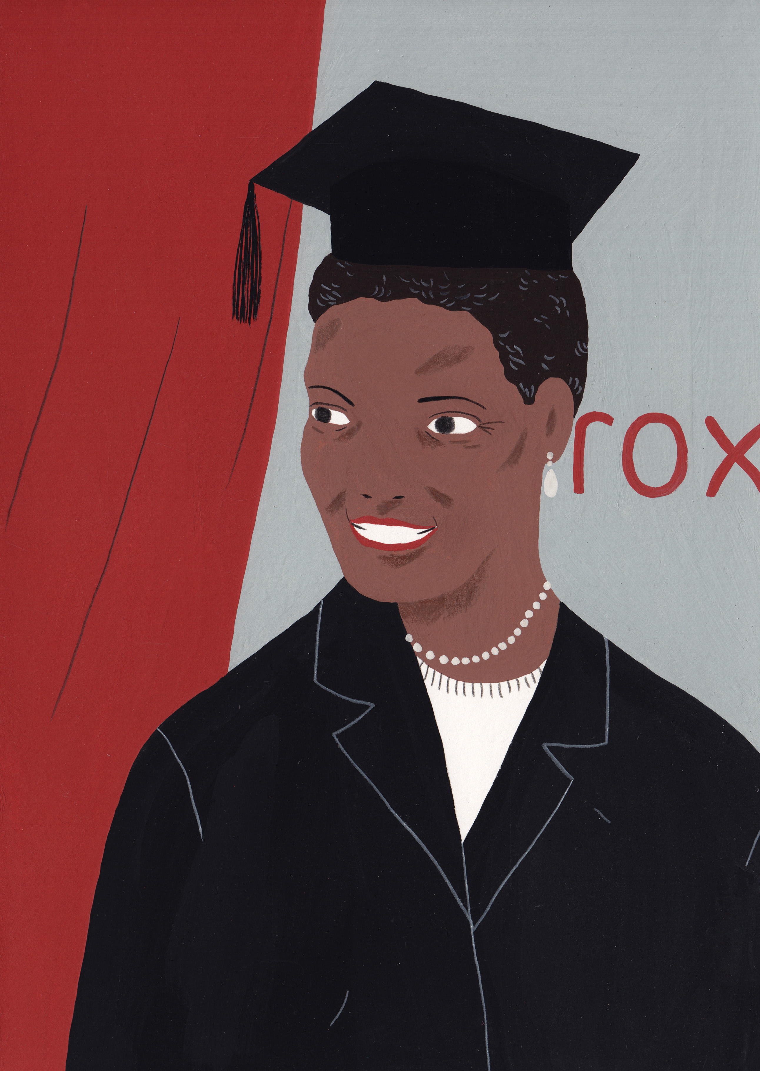 Illustration of Ursula Burns the first black woman to head a Fortune 500 company as CEO of Xerox