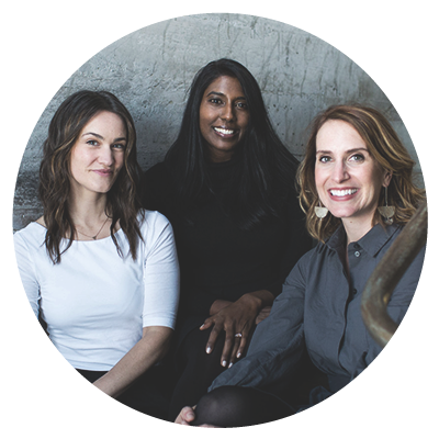 Santhi Analytis, Cara Delzer & Gabrielle Guthrie, Co-Founders of Moxxly