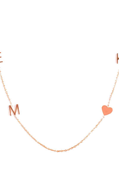 Maya Brenner 14K Gold 4 Letter Necklace
