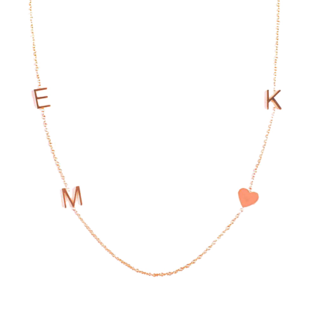 Maya Brenner 14K Gold 4 Letter Necklace