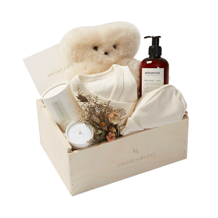 Simone Le Blanc Mom & Baby Gift Crate