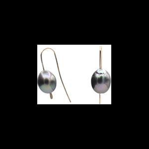 14K Tahitian Pearl Earrings