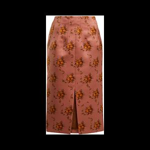 Sorrel Floral-Print Satin Pencil Skirt