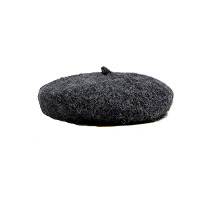 Mohair Beret in Charcoal