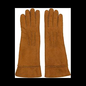 Tan Shearling Gloves