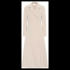 Double-Breasted Melange Wool-Blend Coat