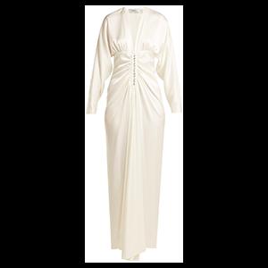 Rita Ruched Silk Maxi Dress