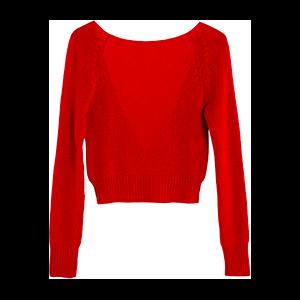 V-Neck Raglan Sweater