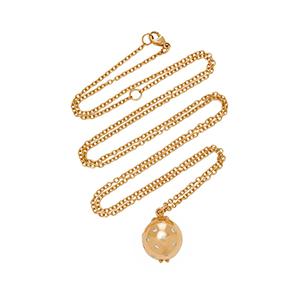 14K Gold, Enamel, and Diamond Necklace