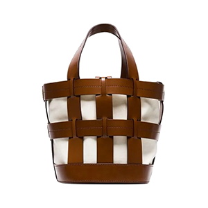 Cooper Leather Cage Tote Bag