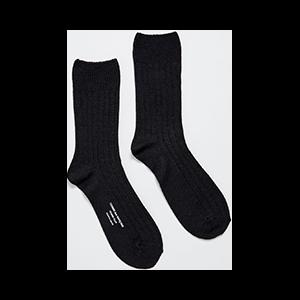Wool Blend Ribbed Sock