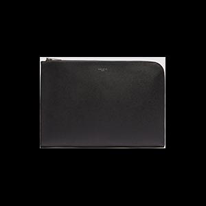 Saffiano Leather Zipped Document Case