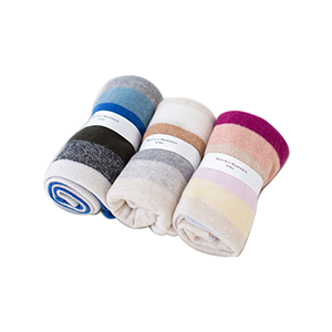 Cashmere Striped Baby Blanket