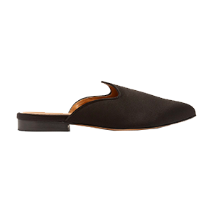 Venetian Backless Velvet Slippers