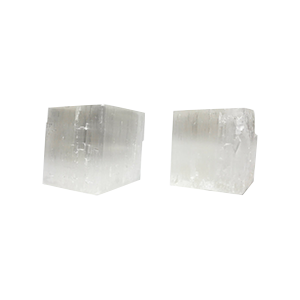 Pair of Selenite Candle Holders