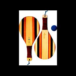 Wooden Beach Racquet Set