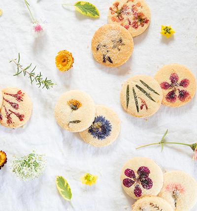 One Dozen Flower Pressed Short Bread Cookies