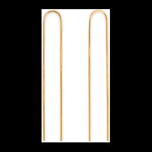 Clean Gold-Plated Hair Slides