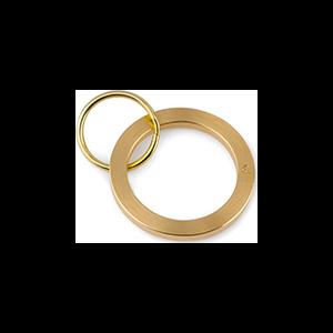 Morris Brass Key Ring