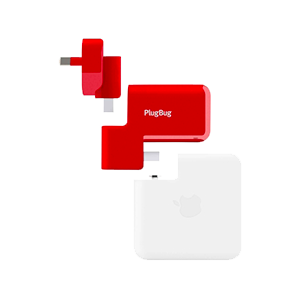 PlugBug Duo, USB iPad and iPhone charger with global adapters