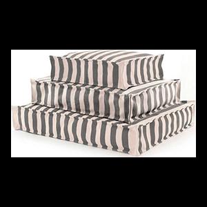 Trimaran Stripe Graphite and Ivory Dog Bed
