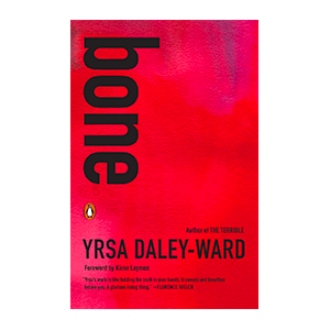 red poetry book bone by yrsa daley-ward