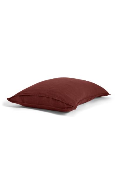 Linen Pillowcases in Pomegranate