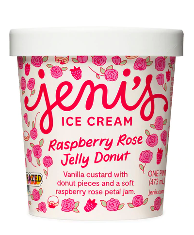 Raspberry Rose Jelly Donut Pint