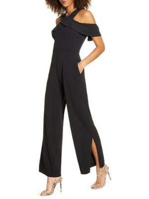 Jolie Cold Shoulder Jumpsuit