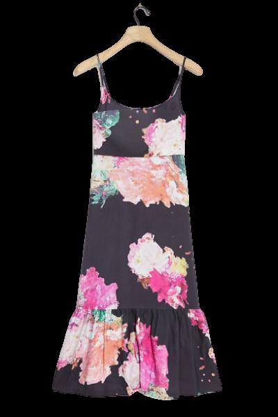 Devin Flounced Mini Dress