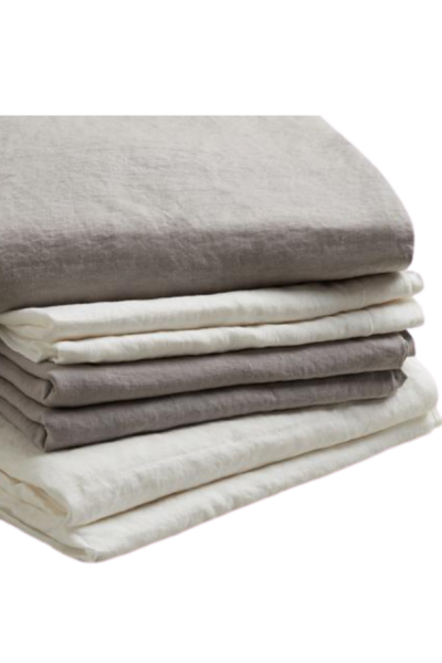 Dove Gray Linen Sheet Set